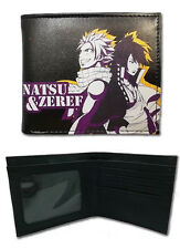 Fairy Tail Natsu and Zeref Black Bifold Wallet NEW