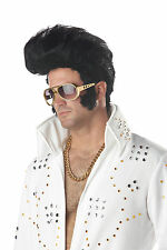 Black Rock n' Roll Elvis 70's The King Costume Wig