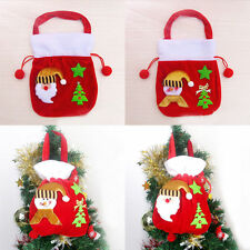 Christmas Santa Party Candy Gift Drawstring Bag Wrapping Xmas Hanging Handbag