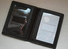 Mens Bifold Leather Credit Card ID Driver's License Holder Boating - Dark Brown