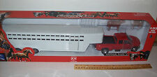 New Ray  Diecast DODGE Pickup & LONG Cattle hauler and Cows. Great set.