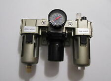 "3/8"" NPT  Compressed Air Pneumatic  Filter Regulator Lubricator Combo  FRL"