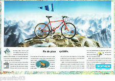 PUBLICITE ADVERTISING 125  1993  Décathlon  le vélo  vtt Rocksider 300 (2p)