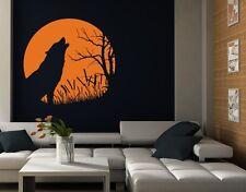 Howling Wolf Wall Decal, sticker mural vinyl home décor