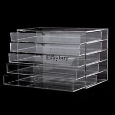 Acrylic Makeup Cosmetic Jewelry Organizer 5 Drawer Clear Multipurpose Box 5 Draw