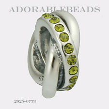 Authentic Chamilia Siena Collection Sterling Silver Regale Verde Bead 2025-0773