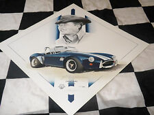 SHELBY AC COBRA 427 FORD CARROLL SHELBY 1965 NEW PAINTING PRINT PORTRAIT ART LTD