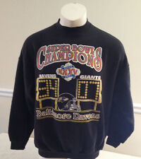Baltimore Ravens Super Bowl XXXV Champions Black Sweat Shirt Men's Size XL