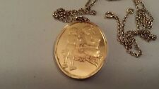 """Sterling silver gold plated Franklin Mint 1976 Mother's Day pendant w/24"""" chain"""