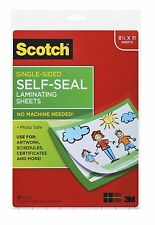 Scotch Self Sealing Laminating Sheets 8 1/2 x 11 - inches 10/Pack Free Shipping