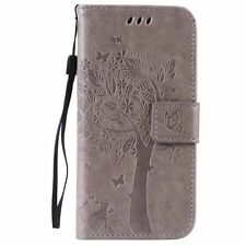 Card Holder Leather Flip Wallet Case Cover Stand Floral For Sony Xperia Phone