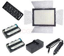 Yongnuo YN-600 LED Video Light 3200K-5500K Dimmer + 2x NP-F550 Battery f Camera