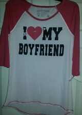 Everyday women's shirt size medium NWT.I love ♡ my boyfriend valentine's day