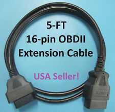 5-FT Extension Cable for Snap-On OBD2 DA4 MT2500-46 & DL-16 OBD-II OBD2 Adapter