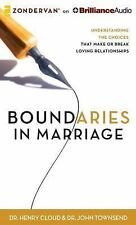Boundaries in Marriage by Henry Cloud and John Townsend (2014, MP3 CD,...
