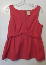 VIOLA Anthropologie Pink / Coral Cotton Spandex Sleeveless Tunic Top Size 12 - L