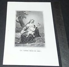 CHROMO 1850-1900 IMAGE PIEUSE CATHOLICISME HOLY CARD SAINTE MERE DE DIEU VIERGE