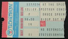 Bruce Springsteen 5/27/78 Ticket Stub The Spectrum~Darkness On The Edge Of Town