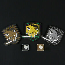 5 PCS METAL GEAR SOLID FOX HOUND 3D TACTICAL ARMY MORALE RUBBER PVC PATCH