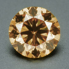 CERTIFIED .051 cts. Round Cut Champagne Color VVS Loose Real/Natural Diamond 1F
