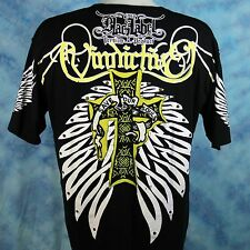 Blac Label Sweet Revenge T Shirt Save Our Souls Embellished Cross Wings Mens 4XL