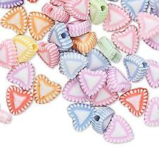2597 Acrylic Plastic Heart Beads 8mm PK100 *UK EBAY SHOP*