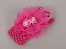 Pink Flower Girls Headband Lace Headband for Baby Girl Children Hair Accessories