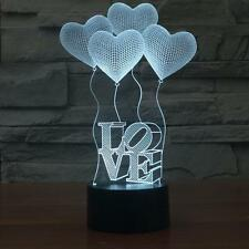 Touch 4 LOVE 3D Light Colorful Acrylic Lamp Visual Perspective LED Nightlight