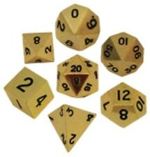 Metallic Dice Games 7 Solid Metal Dice Set in Gold Color LIC001