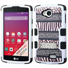 For LG Optimus F60 Tribute Transpyre Hybrid Armor Case w/Stand Cover LS660 MS395