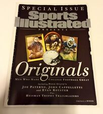 JOE PATERNO JOHN CAPPELLETTI EVAN ROYSTER SPORTS ILLUSTRATED MAGAZINE PENN STATE
