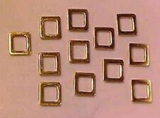 "SOLID RECTANGULAR ""Rings"" for Model Horse Tack - Gold"