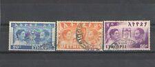 P6912 - ETIOPIA 1949 - LOTTO DALLA SERIE 269/71 USATI - MENEN E SELASSIE'