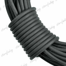7m Rubber Cord Thread Wire Findings For Bracelet Necklace 2x2mm Black TC0024