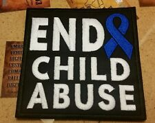 END CHILD ABUSE motorcycle vest jacket patch