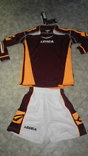 TOP ! 14 Trikot-Sets (Trikot+Hose) ATENE  v. LEGEA, weinrot/orange XS,S,M