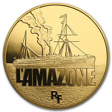 2013 1/4 oz Proof Gold Great French Ships L'Amazone - SKU #79426