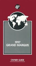 1997 Mercury Grand Marquis Owners Manual User Guide Reference Operator Book