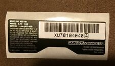 Nintendo Game Boy Advance GBA SP AGS-101 NEW Replacement Sticker Label US SELLER
