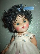 EBONY LIQUORISH COLOR CURLY POODLE CUT DOLL WIG VINTAGE VOGUE GINNY MUFFIE WENDY