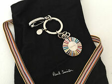 "PAUL SMITH MULTI STRIPE ""RAY"" KEYRING BNWT & STORAGE POUCH"