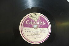 JIM KELLEHER MONTE CARLO / ORCHESTRE VICTORY 78RPM CRYSTALATE YOU'RE ALL THE ...