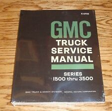 1967 GMC Truck Service Shop Manual Series 1500-3500 67 Pickup