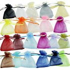 25/50/100 6.85*8.89CM Organza Christmas Wedding Favor Jewelry Pouches Gift Bags