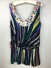 Twinkle By Wenlan Anthropologie Tunic Silk Blend Size 10 Large