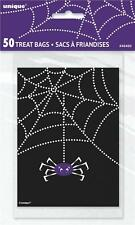 Halloween Spiders Web Party Treat Loot Bags x 50