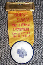 Spanish American War Ribbon USWV 49th National Encampment Medal United Veterans
