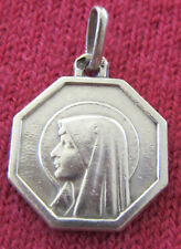Vintage Catholic Religious Holy Medal - STERLING - Our Lady of Lourdes - SWEET