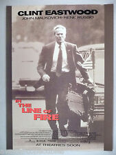 """In the Line of Fire"" Movie Release PRINT AD - 1993 ~~ Clint Eastwood"