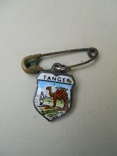 Ancienne broche insigne épinglette écusson blason Tanger émaillée